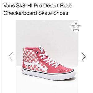 NWOT Desert Rose Checkered Vans